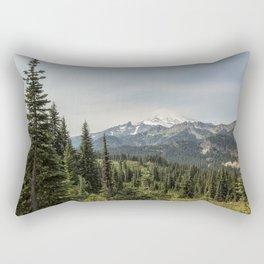 Mt Rainier from Naches Peak Loop Rectangular Pillow