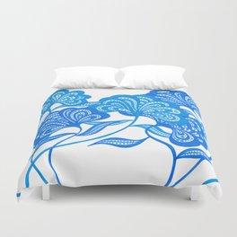 Blue Bloom Duvet Cover