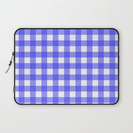Plaid (Blue & White Pattern) Laptop Sleeve