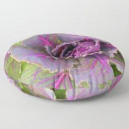 Veins of Purple Floor Pillow