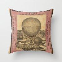 ballon Throw Pillows featuring Ballon Captif by DAChiemsee