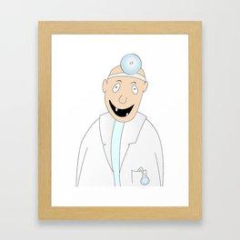 happy dentist Framed Art Print