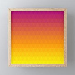 Pink and Yellow Ombre - Flipped Framed Mini Art Print