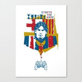 Starts the game Canvas Print