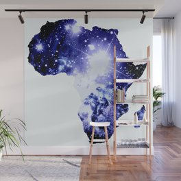 Royal Blue Galaxy Africa Wall Mural