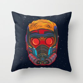 Starlord galaxy art Throw Pillow