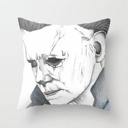 Happy Halloween, Michael Myers Portrait Throw Pillow