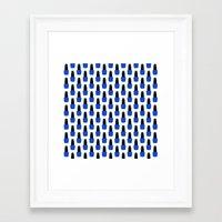 nail polish Framed Art Prints featuring Blue Nail Polish by lilacattack
