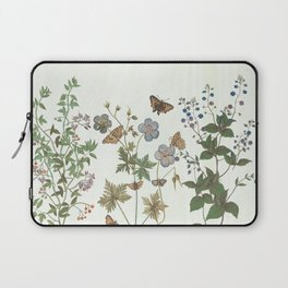 The fragility of living - botanical illustration Laptop Sleeve