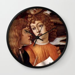 Sandro Botticelli - Angels 3. detail Wall Clock