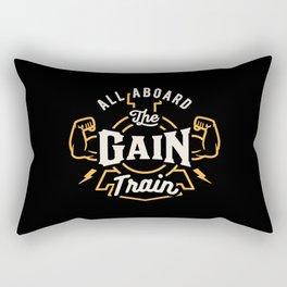 All Aboard The Gain Train Rectangular Pillow