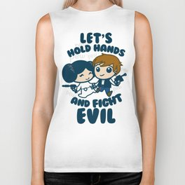 HOLD HANDS AND FIGHT EVIL Biker Tank