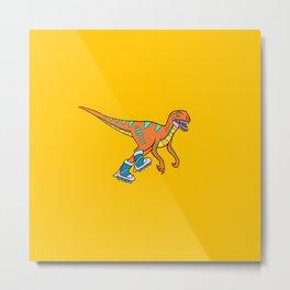 Roller Raptor Metal Print