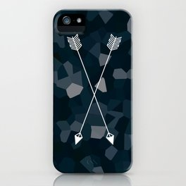 Two Blue Arrows iPhone Case
