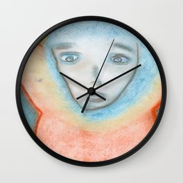 Spiritual Chalks Drawing of Jesus, The Hanging Man Wall Clock