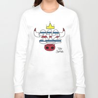 chicago bulls Long Sleeve T-shirts featuring Chicago Pride Bulls by TyRex Creations