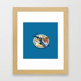 Ramen shark Framed Art Print