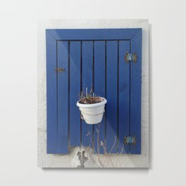 blue window Metal Print