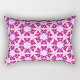 Sheer Flower Faux Quilt Design Rectangular Pillow