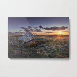 Arthur's stone at sunset Metal Print