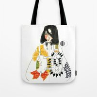 soldier Tote Bags featuring Soldier by Dunia Design
