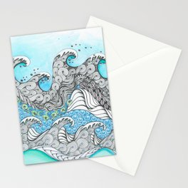 Wave Action Stationery Cards