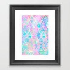 Pink pastel aztec pattern Framed Art Print