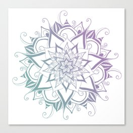 Mandala purple blue By Sonia H. Canvas Print