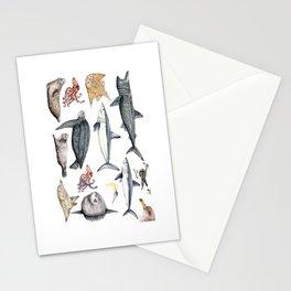 Marine wildlife Stationery Cards