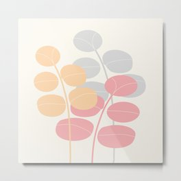 Pastel Leaves   #Society6 #decor #buyart Metal Print