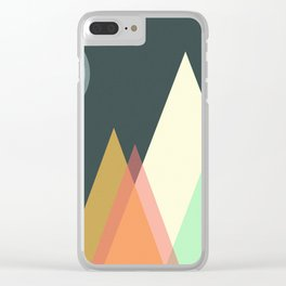 Pastel Mountain | Geometric shapes Triangles Clear iPhone Case