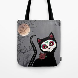 Day of the Dead Cat Tote Bag