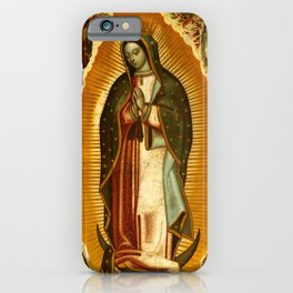 Our Lady Virgin of Guadalupe Virgin Mary Holy Blessed Maria Christmas Gift Religion iPhone Case