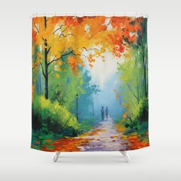 Illusionist Landscape Shower Curtain