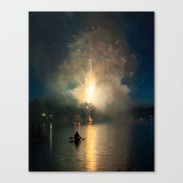 Fireworks on Crystal Lake Canvas Print