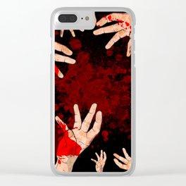 Murder Scene Clear iPhone Case