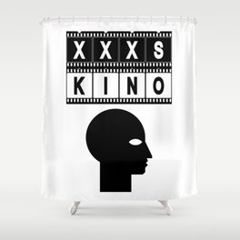 XXXS KINO HEAD FILMSTRIP Shower Curtain