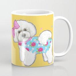 Bichon Frise Holidays yellow cute dogs, Christmas gift, holiday gift, birthday gift, dog, Bijon Coffee Mug