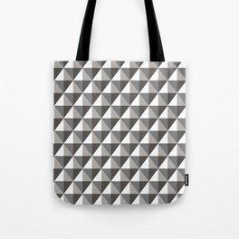 Black & Gray 3D Geometric Diamonds Tote Bag