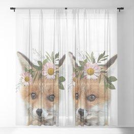 Fox Print Sheer Curtain
