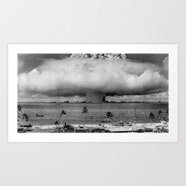 nuclear mushroom Art Print