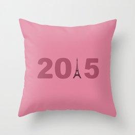 2015-Paris Throw Pillow
