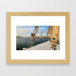 Egypt - Felucca Sailing on the Nile Framed Art Print