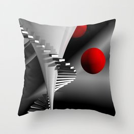 go upstairs -2- Throw Pillow