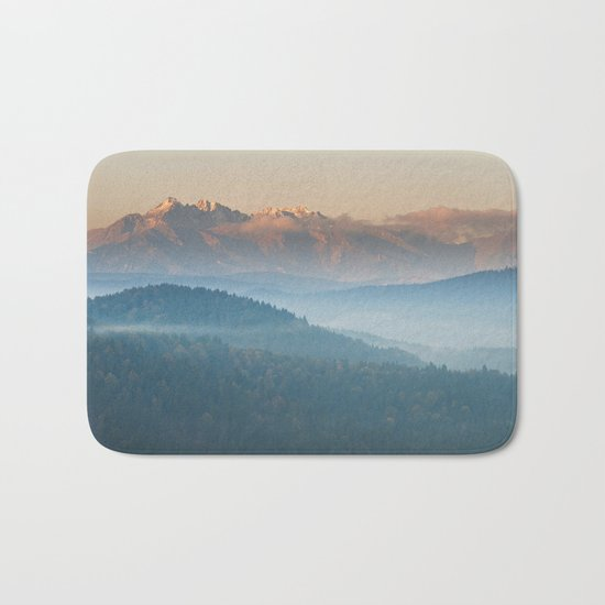 The mountains are calling #sunset Bath Mat