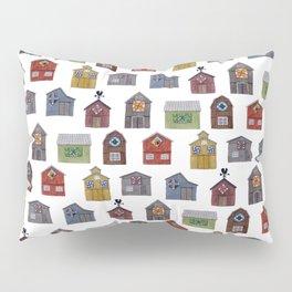 Barn Quilt Illustration Pillow Sham