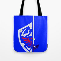 sword Tote Bags featuring Sword & Shield by Danyul