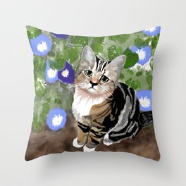 Stewie - The First Kitten Throw Pillow