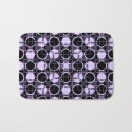 Dark and light Geometric Lavender Cirles Bath Mat