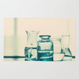 Crystal jars and bottles (Retro and Vintage Still Life Photography) Rug